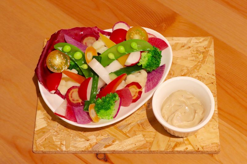 彩り野菜のバーニャカウダマヨネーズ