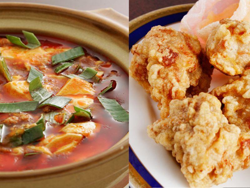 人気おすすめ1.「麻婆豆腐&唐揚げ(3個)」