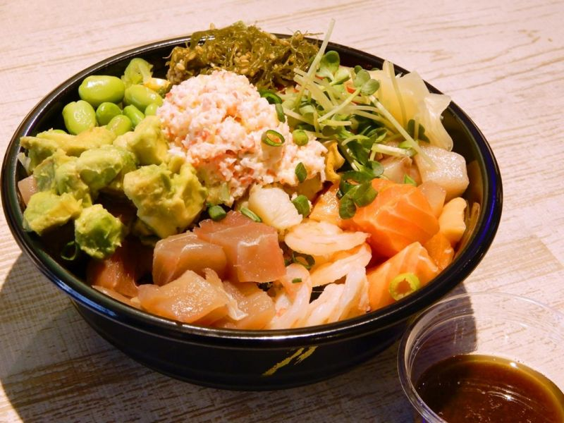 4種の魚介のポキ~温かいスープ付~