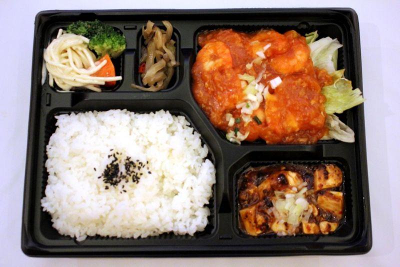 【ご飯大盛り無料キャンペーン中!】エビチリソースお弁当