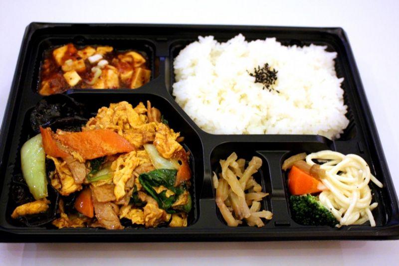 【ご飯大盛り無料キャンペーン中!】木須肉(キクラゲと玉子炒め)お弁当