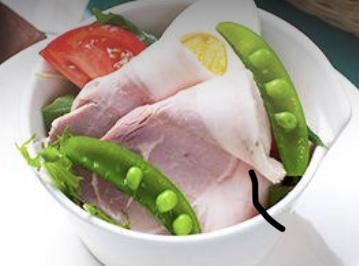 熟成豚の自家製ハム 季節の神戸野菜サラダ
