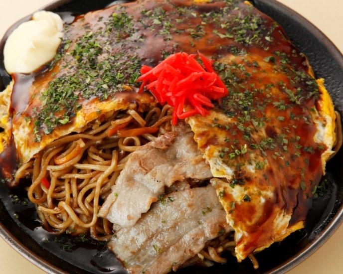 『若竹風広島焼』豚肉、いか入り