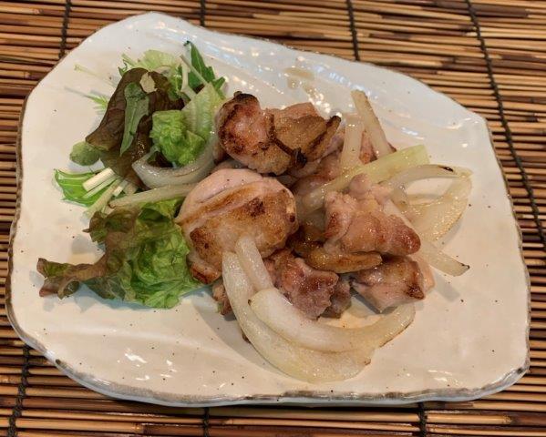 鶏モモ肉柚子胡椒炒め