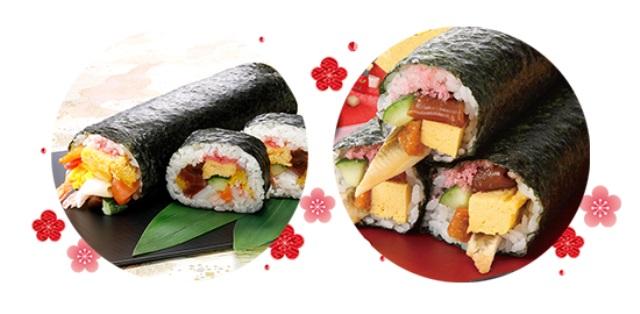 【2/3受取限定】【恵方巻+海鮮太巻き】食べ比べ2本セット