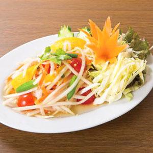 青パパイヤのサラダ/Spicy Salad of the Green Papaya