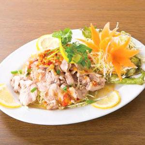 豚肉のレモンソースかけ/Boiled Pork with Lemon Sauce