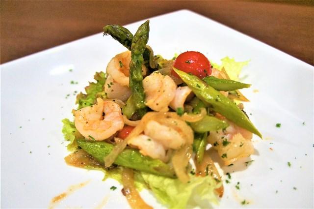 エビとアスパラガスのガーリックソテー (Shrimp & Asparagus with Garlic Saute)