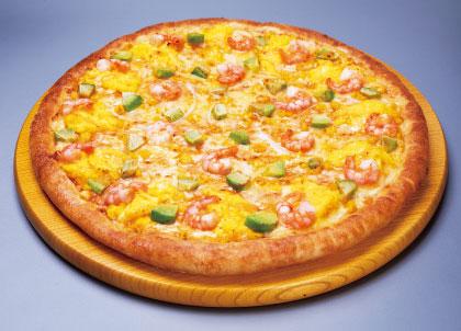 【期間限定】エビマヨたまごのピザ
