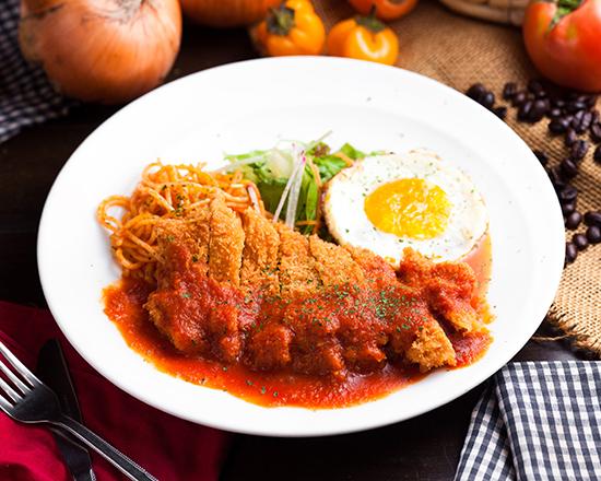宮崎県産鶏もも肉チキンカツ~特製トマトソース~