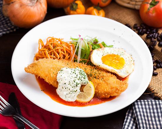厳選!!白身魚のフライ~特製トマト&タルタルソース~