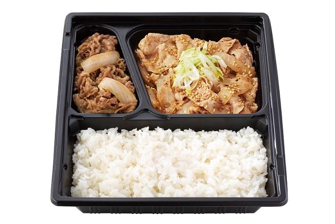 W弁当(牛皿・ねぎ塩豚)