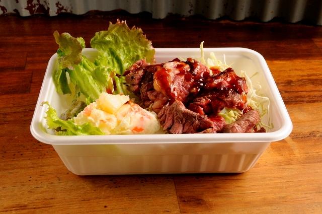 ビフテキ丼(ノーマル)+ポテトサラダ