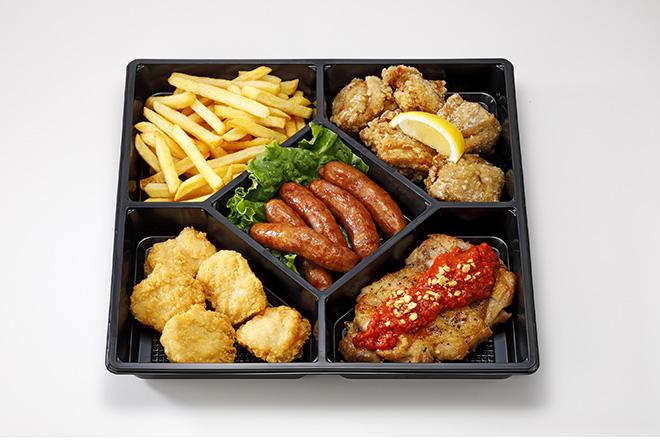 洋風オードブル(5品)ウインナー/ナゲット/唐揚げ/辛味チキン/ポテトフライ