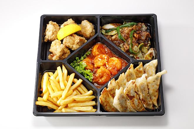 中華オードブル(5品)海老チリ/餃子/唐揚げ/回鍋肉/ポテトフライ