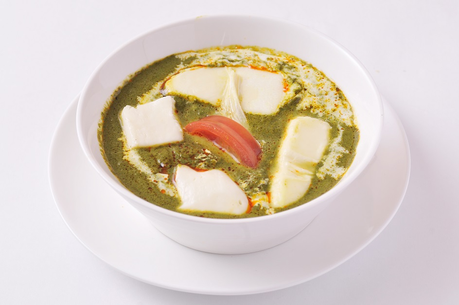 ほうれん草とモッツァレラチーズカレー Sag Panir&Mozzarella Cheese Curry