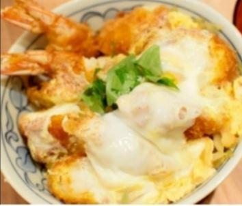 海老とじ丼(海老3尾)