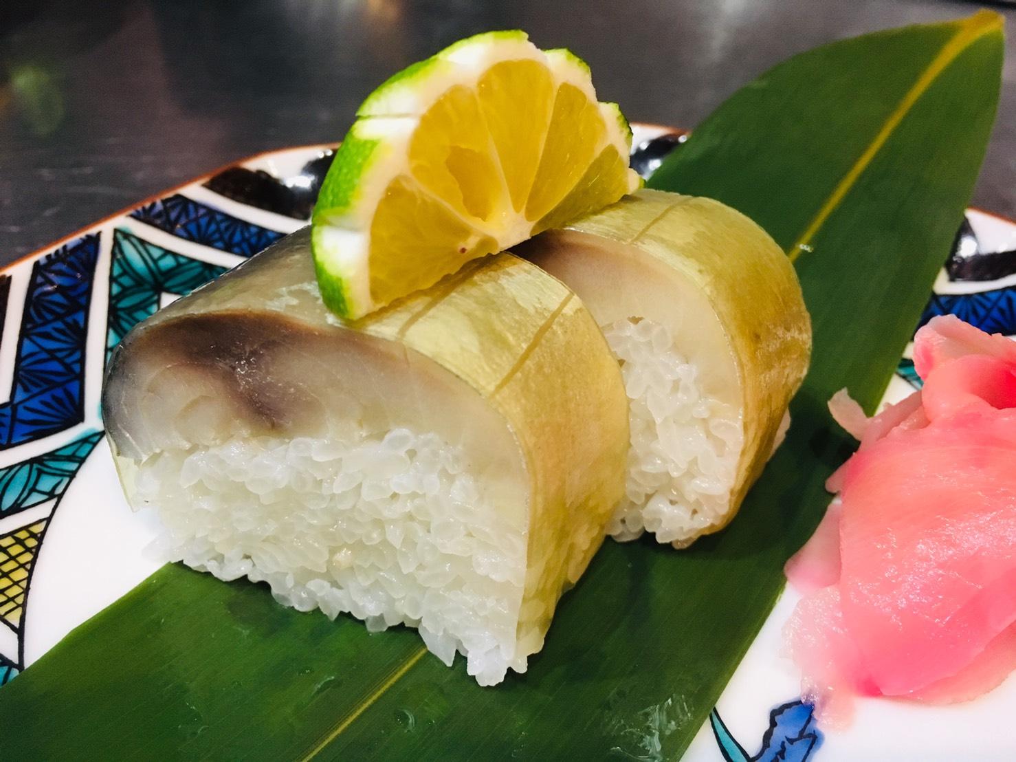 鯖松前寿司 (2カン)