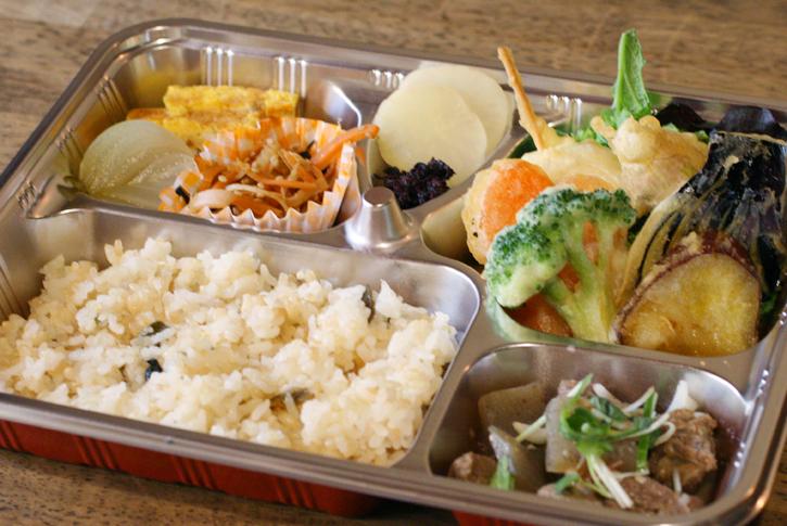 野菜の天ぷら弁当
