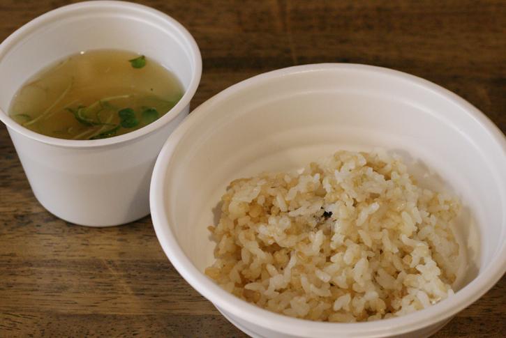 玄米ごはんとみそ汁