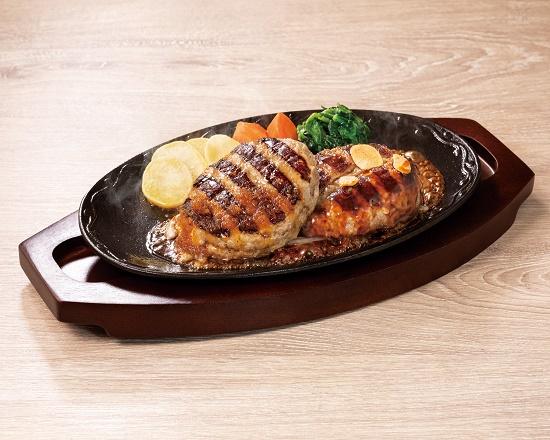 【5D】Wハンバーグ(All Beef &合挽)~選べるソース