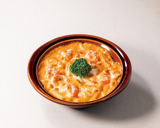 【3K】トマトクリームの海老ペンネグラタン