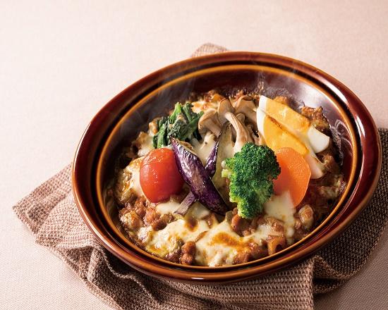 【6J】15種類の野菜を食べるキーマカレードリア