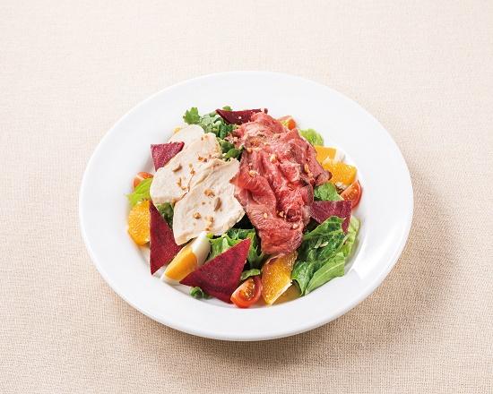【2M】ローストビーフとハーブ鶏のパワーサラダ~にんじんドレッシング