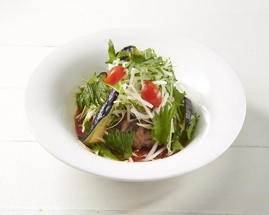 【2C】シャキシャキ大根と香味野菜の生姜醤油ハンバーグ