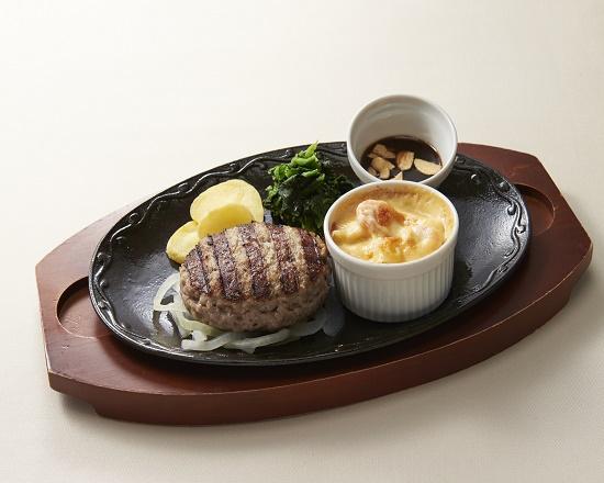 【6B】ハンバーグ&海老グラタン~選べるソース