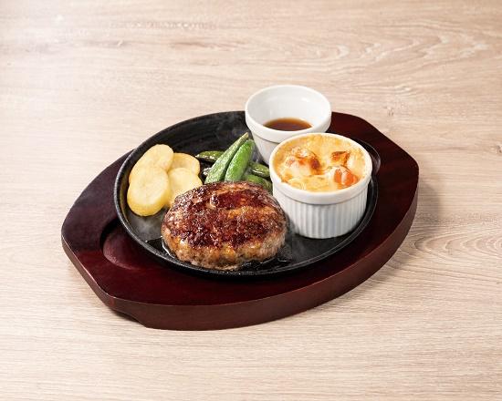 【4D】(期間限定20%OFF!!)All BEEf ハンバーグ&海老グラタン~選べるソース