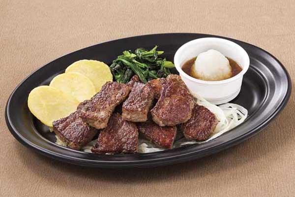 大盛り カットステーキ(約190g)~選べるソース