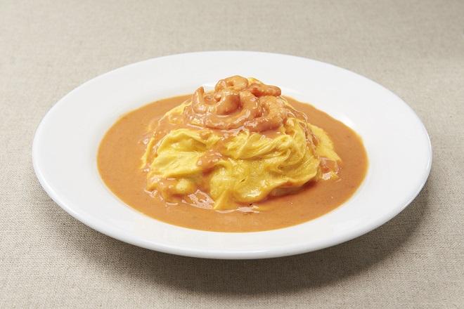 海老のトマトクリームオムライス