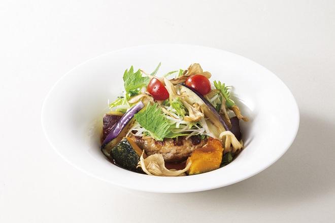 きのこと香味野菜の生姜醤油ハンバーグ