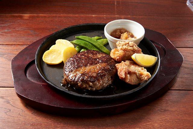【期間限定 20%OFF】All Beef ハンバーグ&鶏の唐揚げ~選べるソース