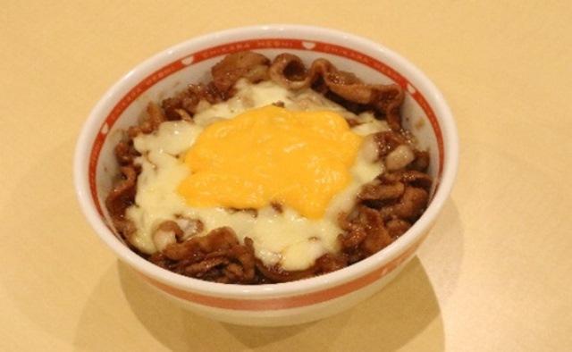 Wチーズ焼き牛丼(味噌)