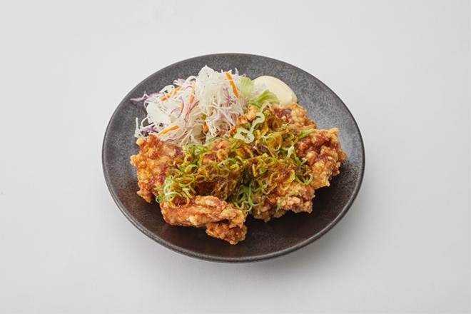店仕込み鶏唐揚げ定食(ねぎニンニクだれ)
