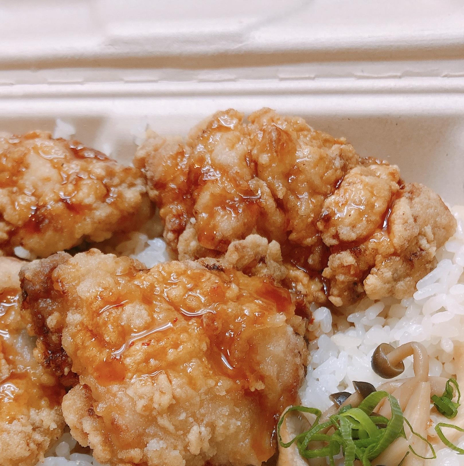 特製から揚げ丼(特製甘辛ソースがけ)