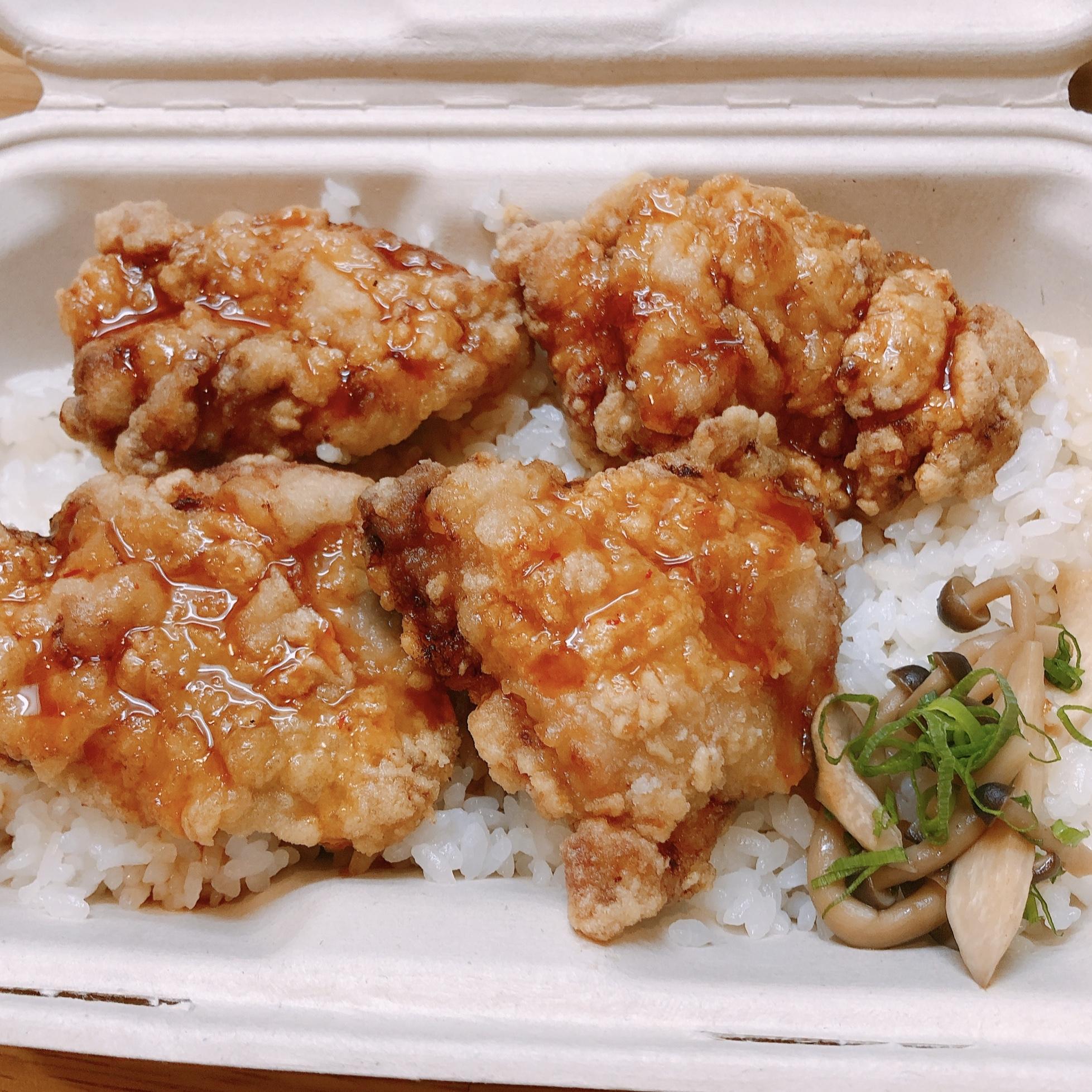 大盛特製から揚げ丼(特製甘辛ソースがけ)