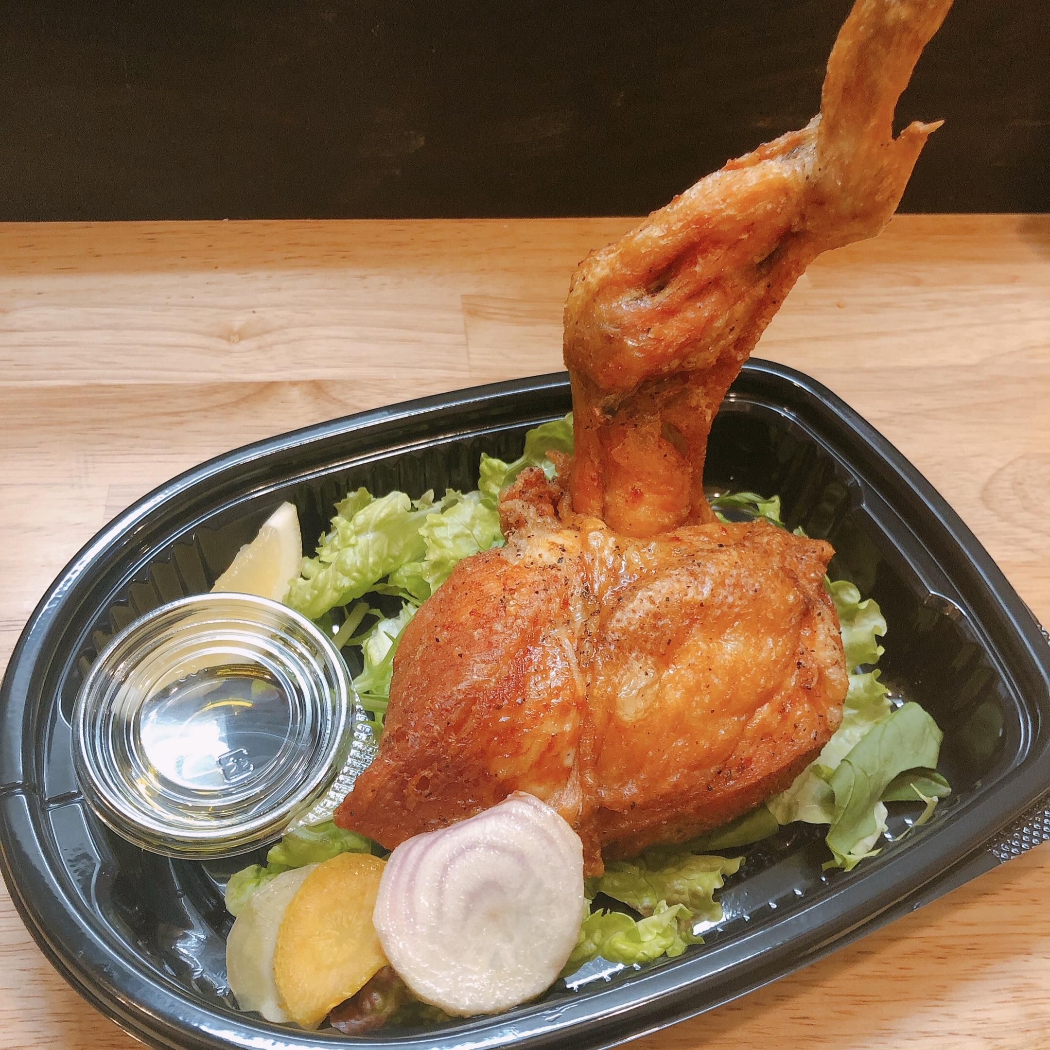 匠の大山鶏トマホーク素揚げ