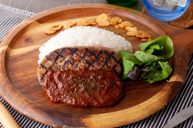 和牛肉入り手作り【肉屋】のハンバーグBOX