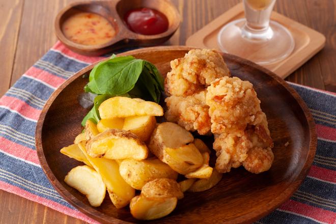 自家製ソース鶏唐揚げ&ポテトフライ