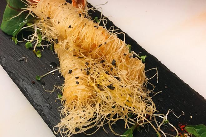 天然海老のカダイフフリット Natural Shrimp's Kadiaif Platter