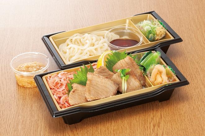 かつお竜田揚げと釜揚げ桜海老重と麺セット