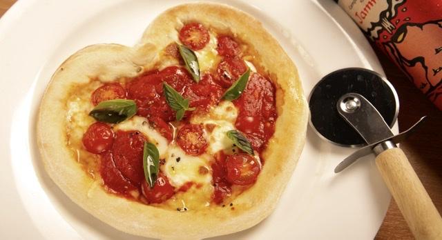 ハートキャッチマルゲリータピザ