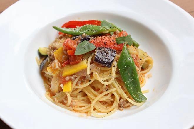 黒豚のトマトソーススパゲティ