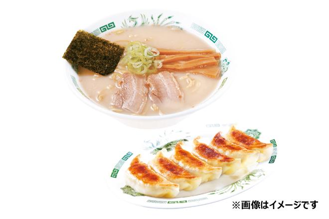 とんこつラーメン+餃子6個