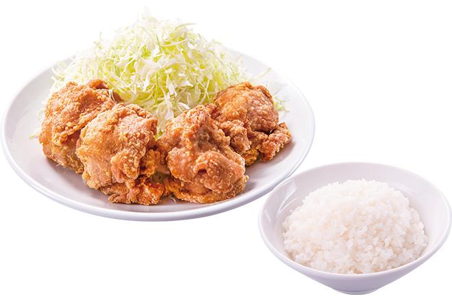 から揚げ+ご飯