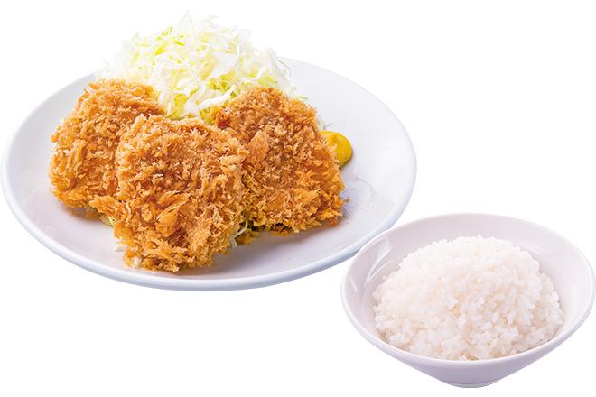 ヒレかつ+ご飯