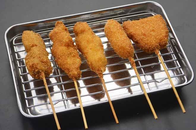 串カツ肉盛り(5本)
